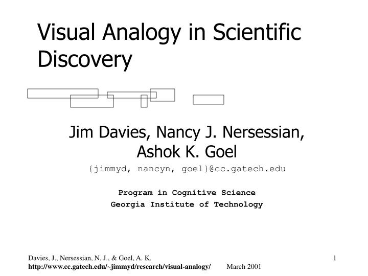 Visual Analogy in Scientific Discovery