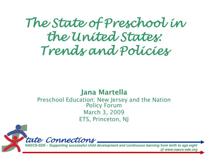 The state of preschool in the united states trends and policies
