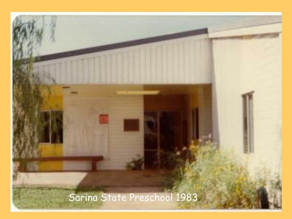 Sarina State Preschool 1983