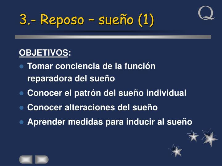 3.- Reposo – sueño (1)