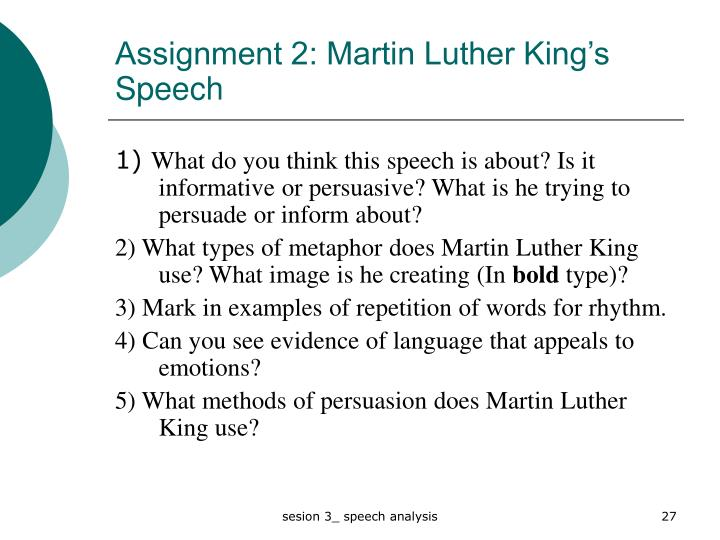 Homework help martin luther king