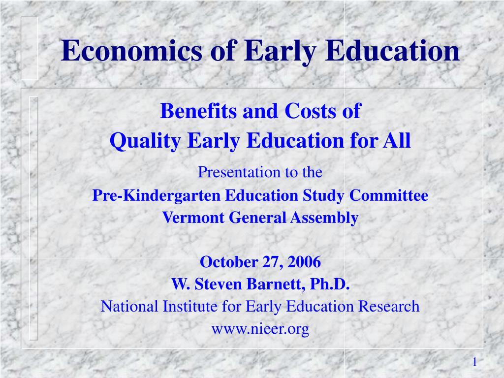 economics of early education