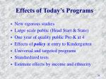 effects of today s programs