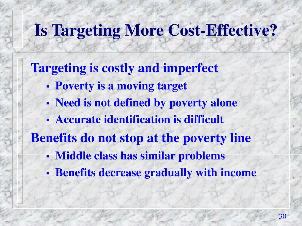Is Targeting More Cost-Effective?