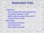 randomized trials