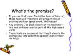what s the promise