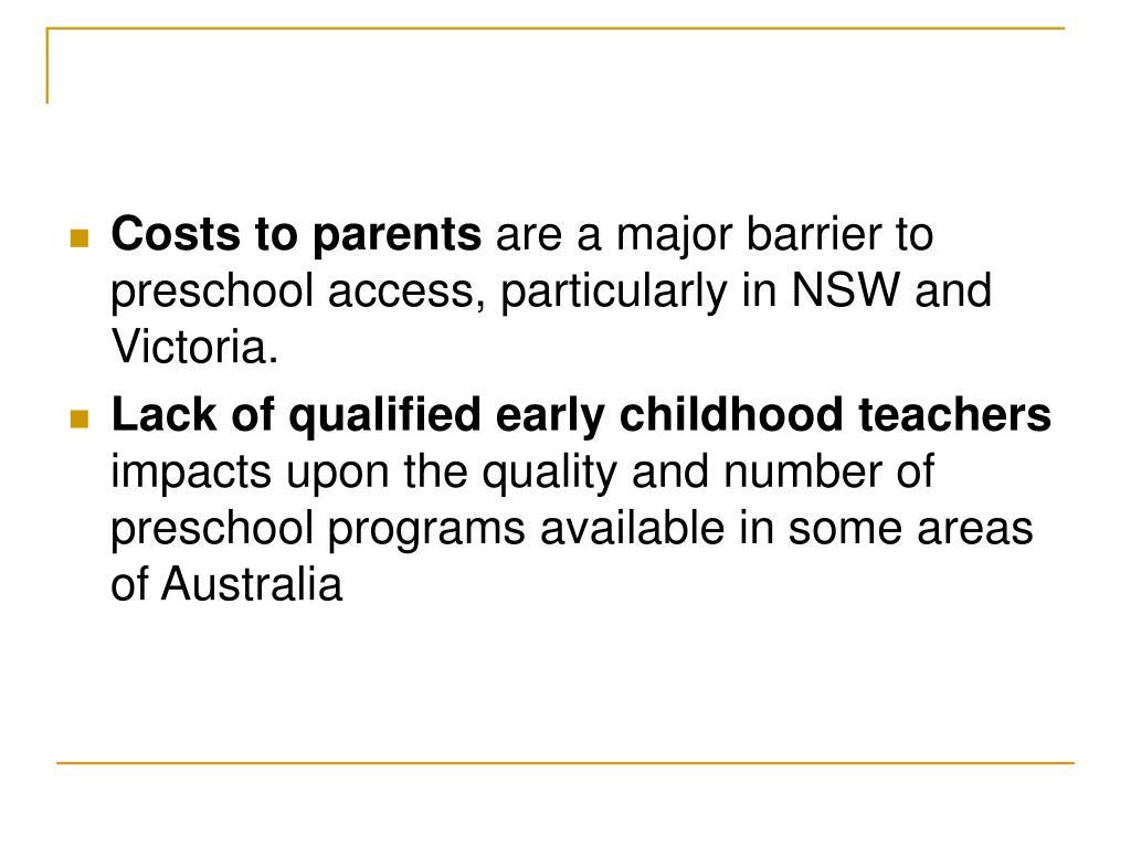 Costs to parents