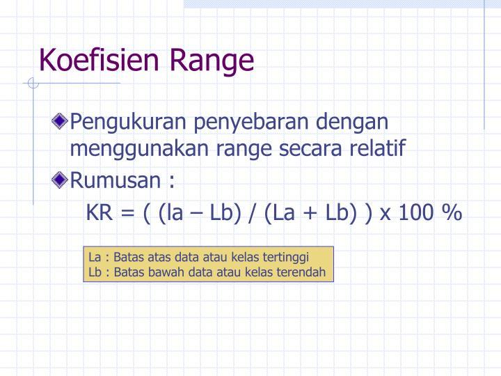 Pengukuran penyebaran dengan menggunakan range secara relatif