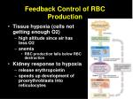 feedback control of rbc production