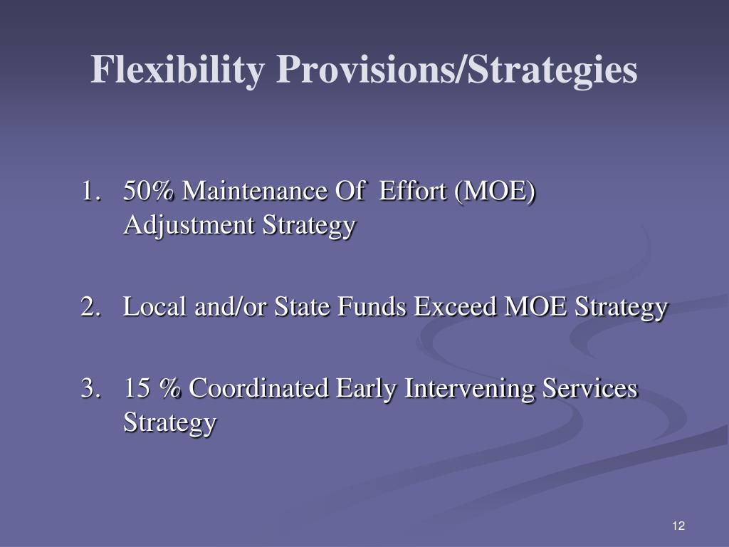 Flexibility Provisions/Strategies