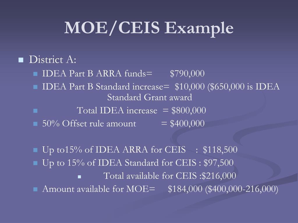 MOE/CEIS Example