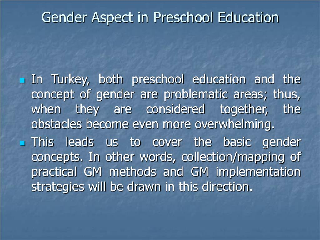 Gender Aspect in Preschool Education