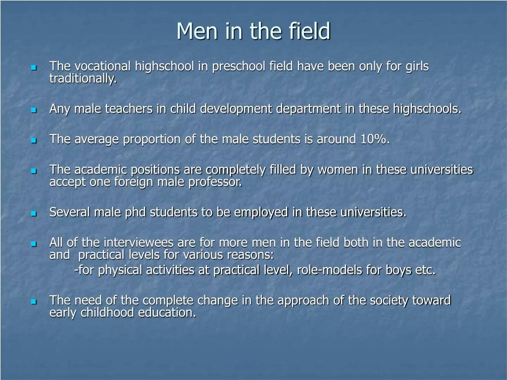 Men in the field