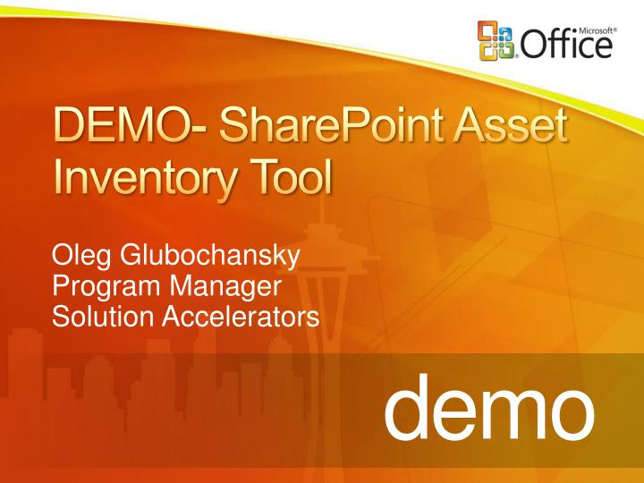 DEMO- SharePoint Asset Inventory Tool