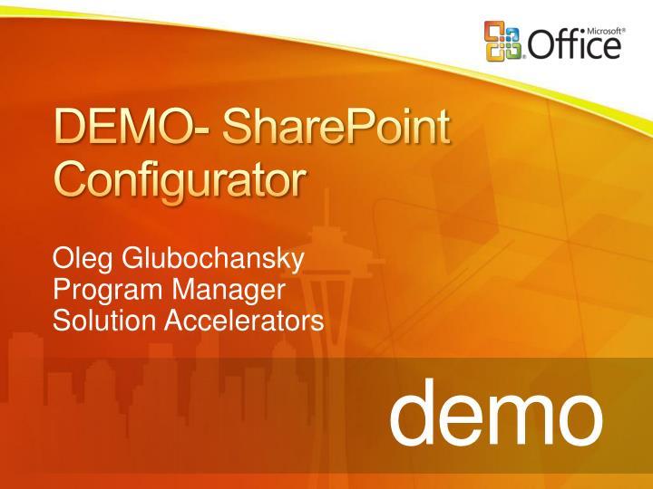 DEMO- SharePoint Configurator