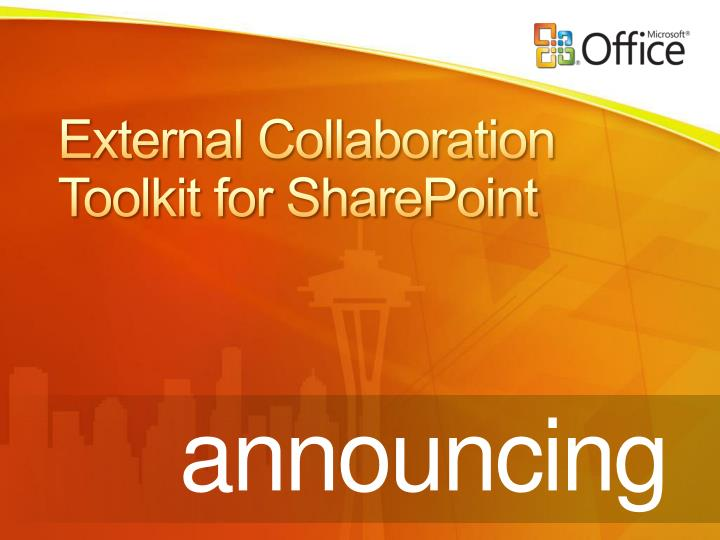 External Collaboration Toolkit for SharePoint