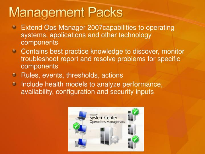 Management Packs