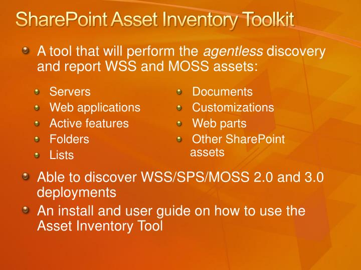 SharePoint Asset Inventory Toolkit