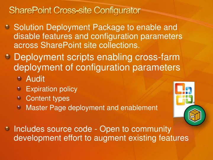 SharePoint Cross-site Configurator