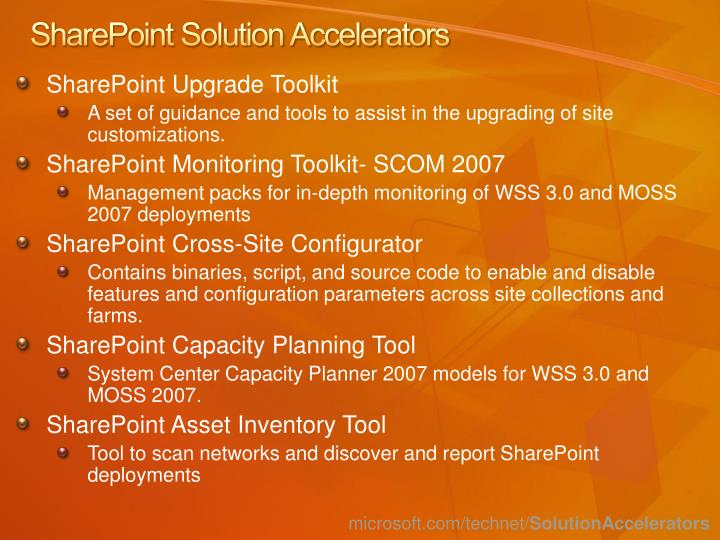 SharePoint Solution Accelerators