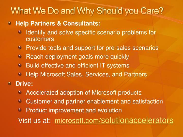 Help Partners & Consultants: