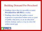 building demand for preschool