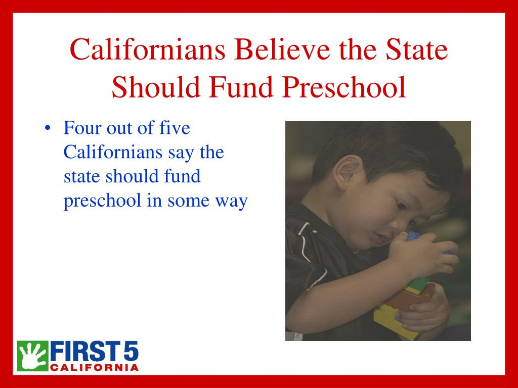 Californians Believe the State Should Fund Preschool
