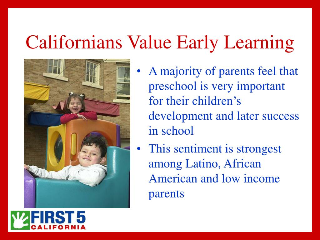 Californians Value Early Learning