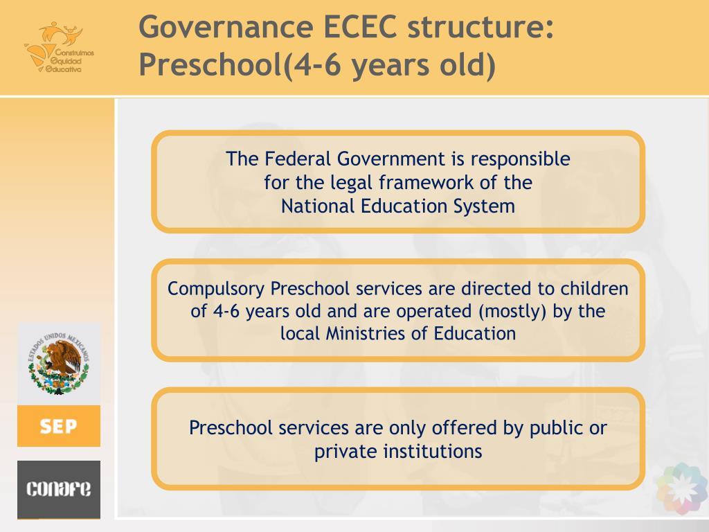 Governance ECEC structure: