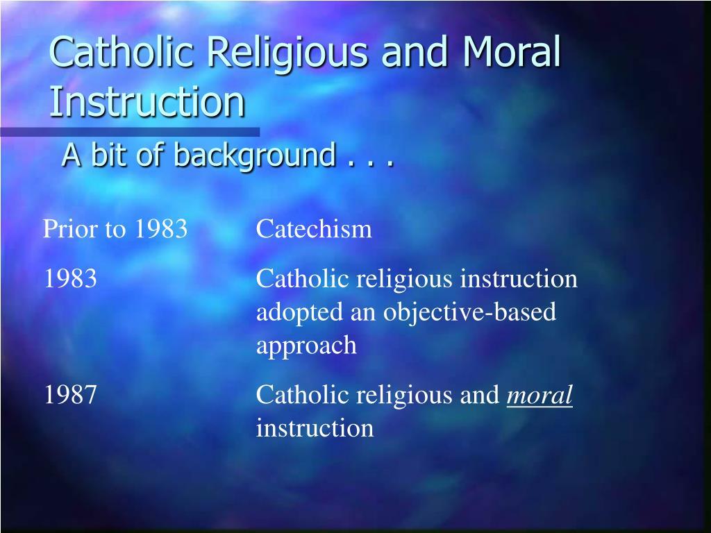 Catholic Religious and Moral Instruction