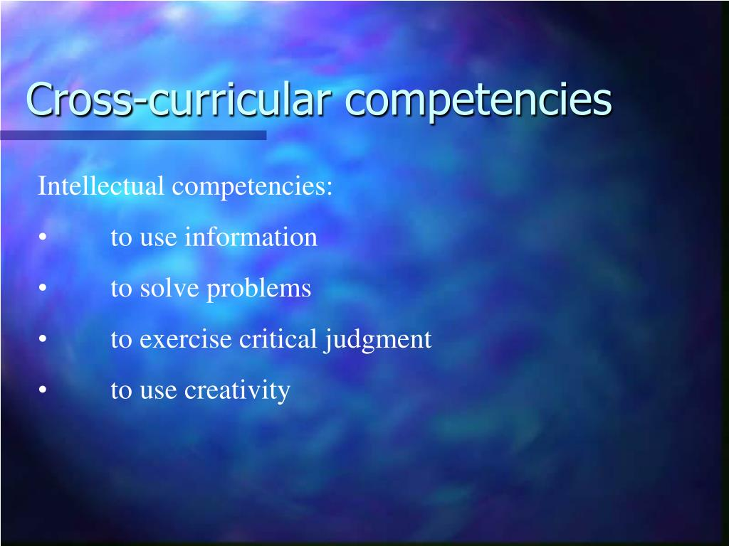 Cross-curricular competencies