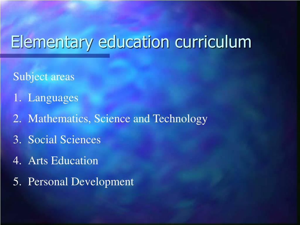 Elementary education curriculum