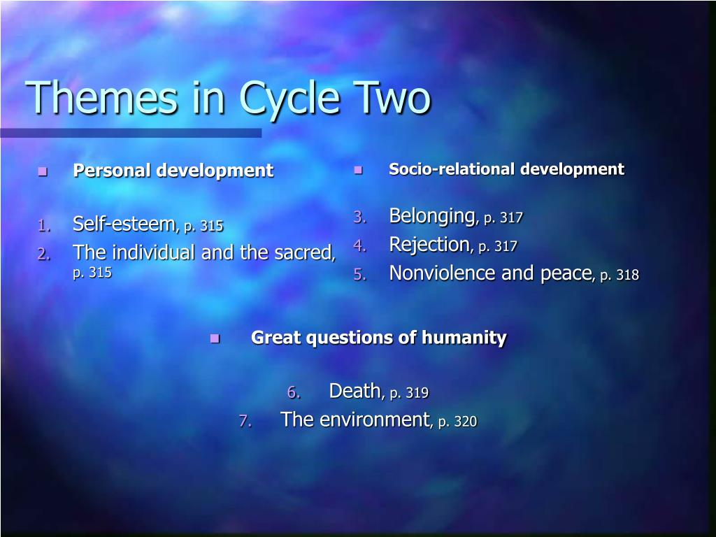 Themes in Cycle Two