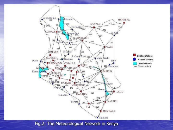 Fig.2: The Meteorological Network in Kenya