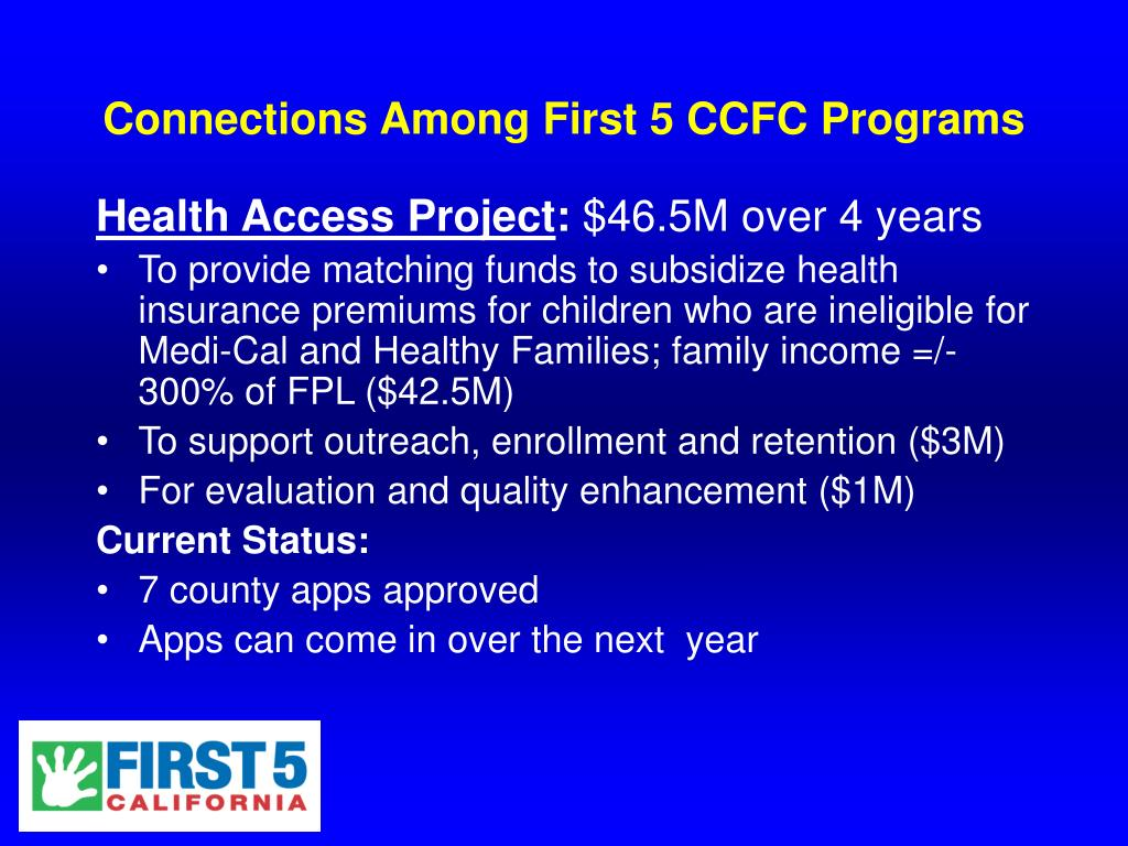 Connections Among First 5 CCFC Programs