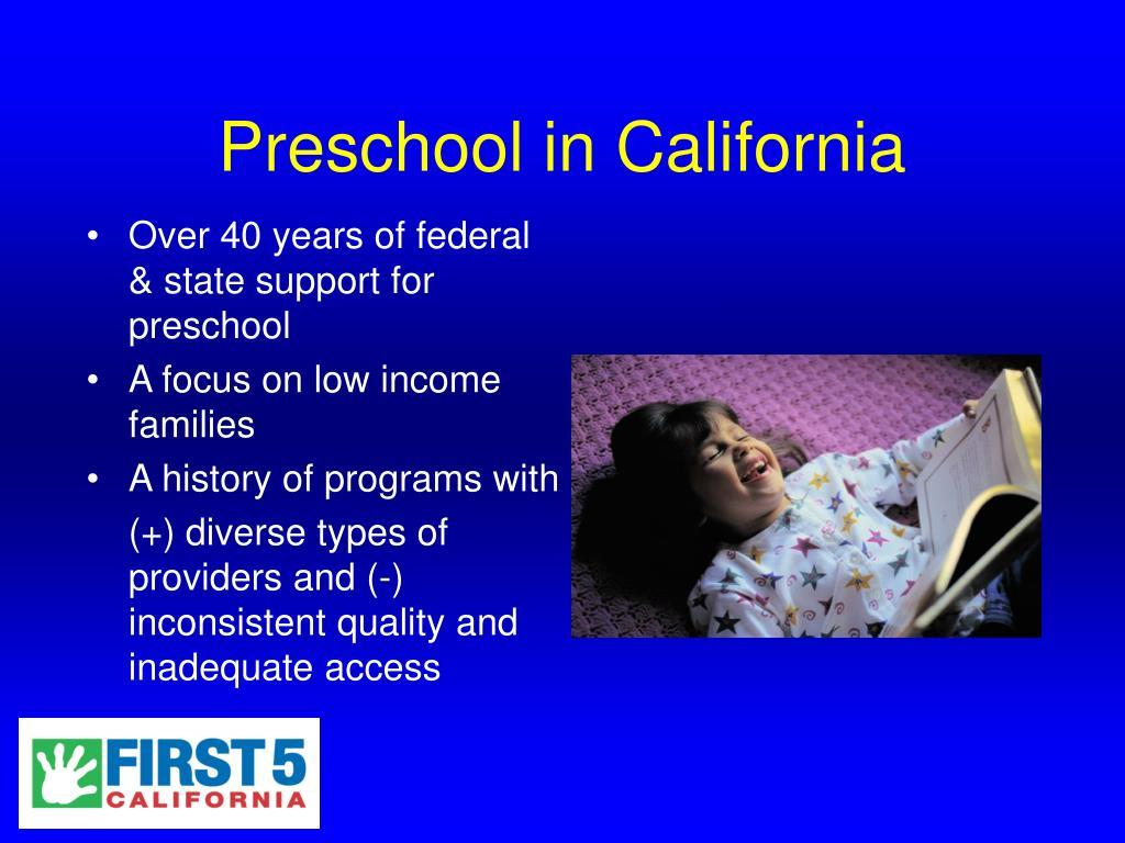 Preschool in California
