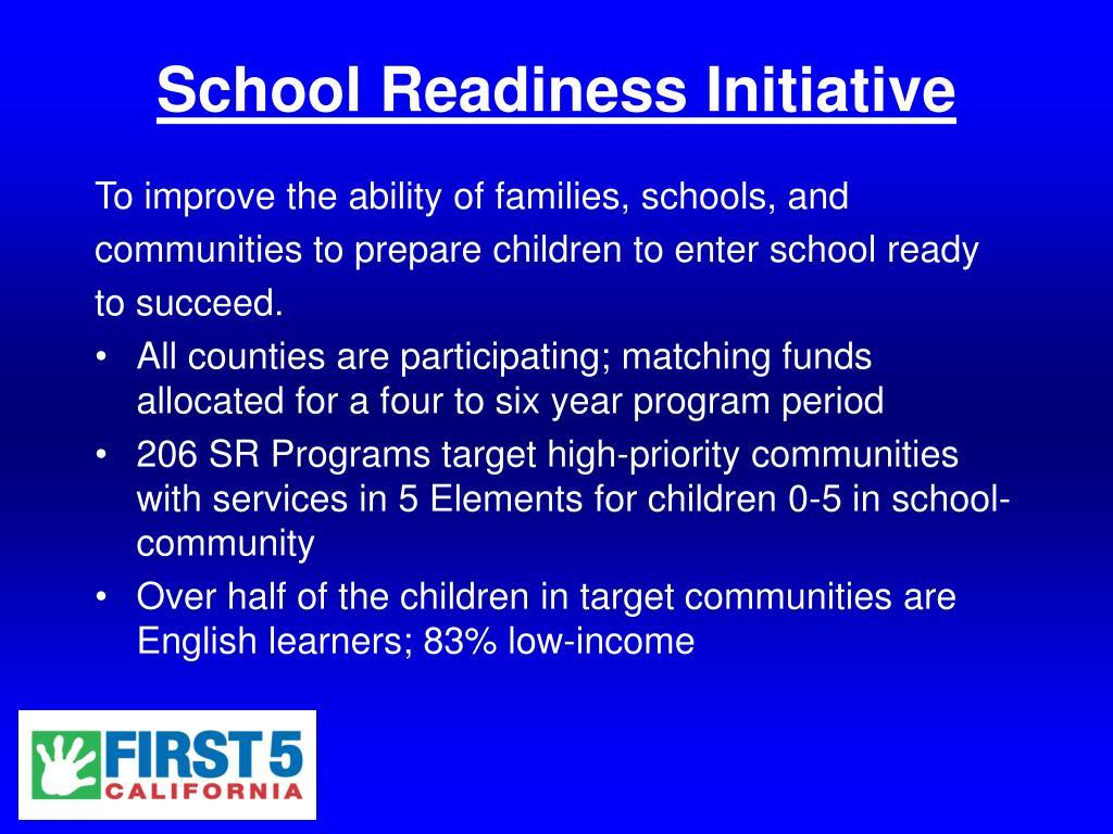 School Readiness Initiative