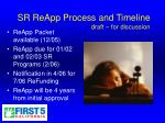 sr reapp process and timeline draft for discussion