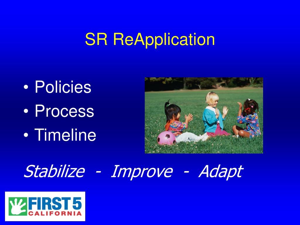 SR ReApplication