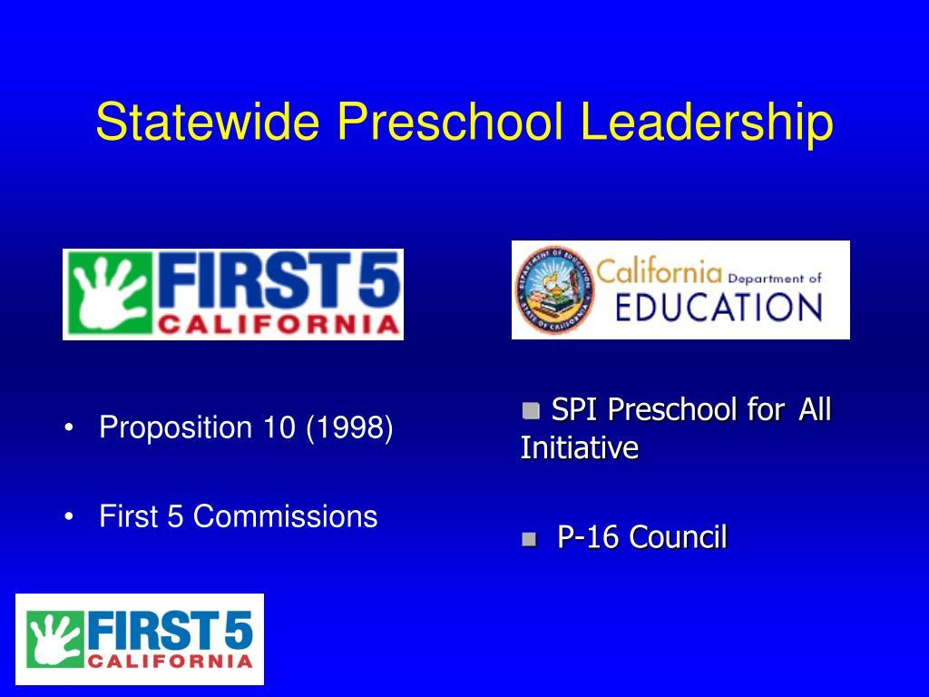Statewide Preschool Leadership