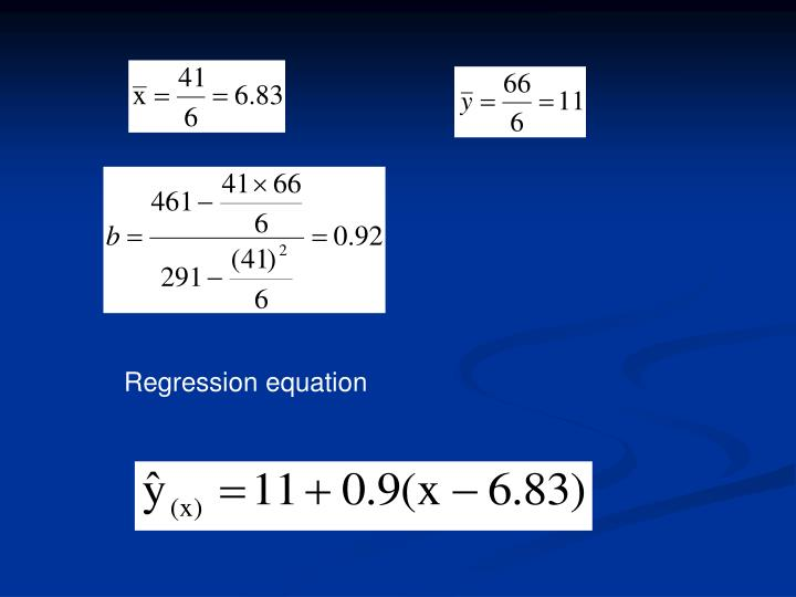 Regression equation