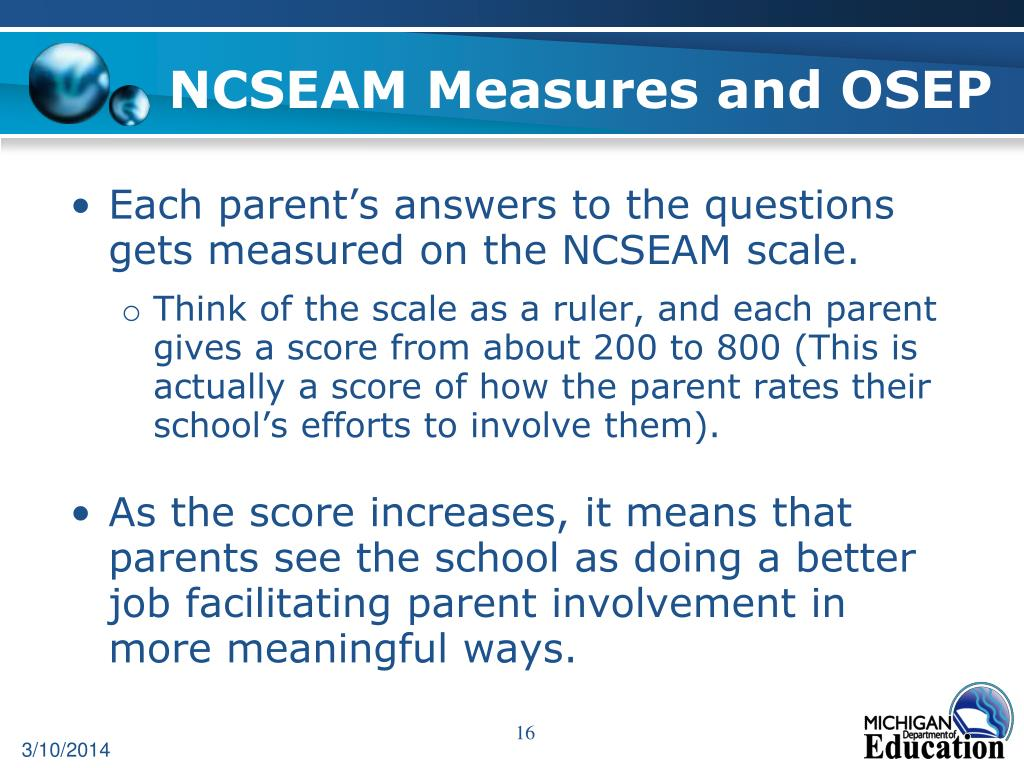 NCSEAM Measures and OSEP