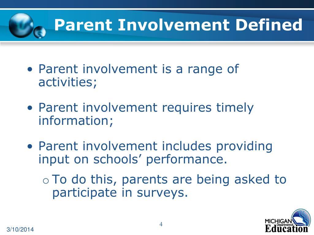 Parent Involvement Defined