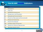 part b spp results indicators