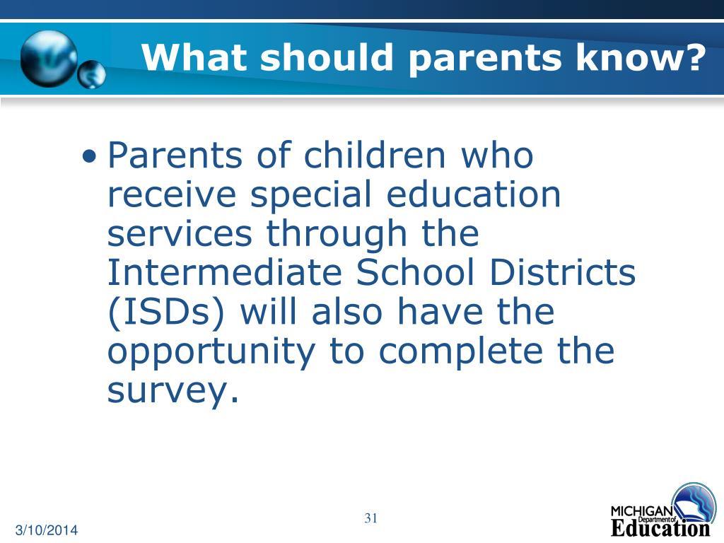 What should parents know?