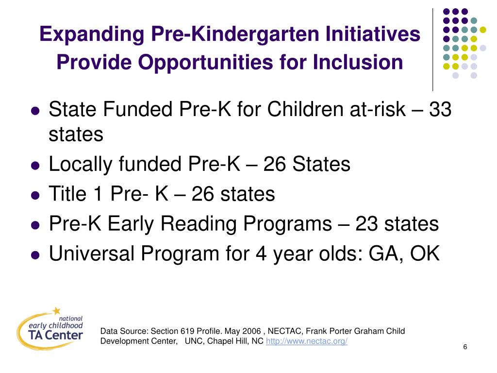 Expanding Pre-Kindergarten Initiatives Provide Opportunities for Inclusion