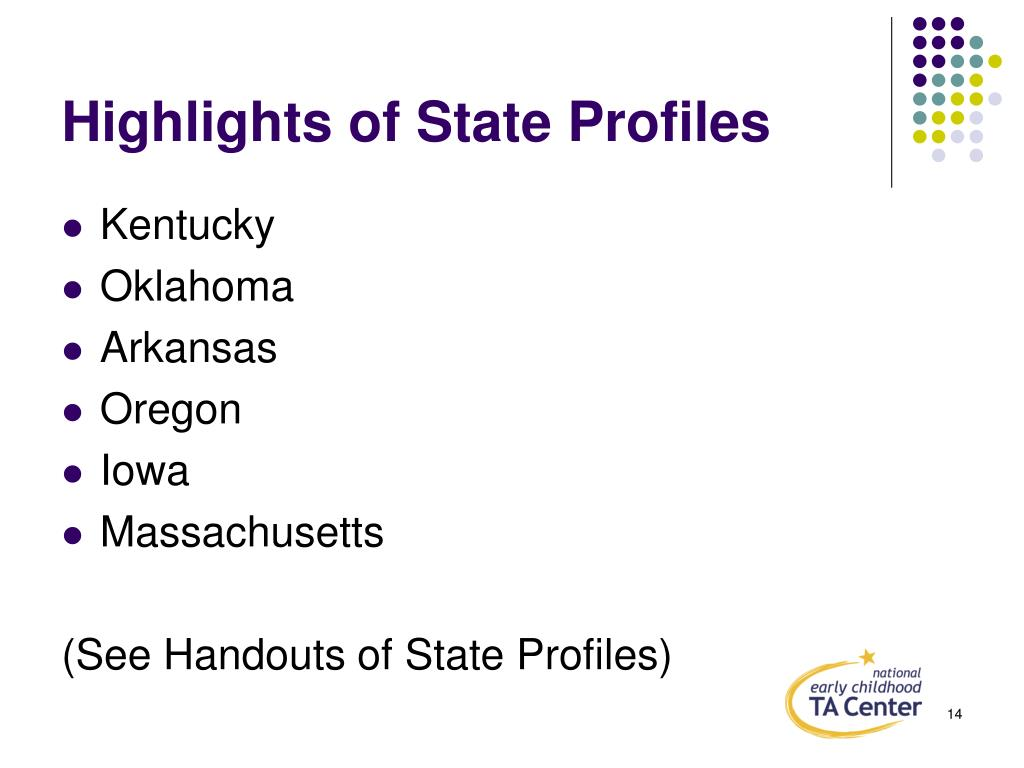 Highlights of State Profiles