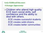 early childhood education a strategic opportunity14
