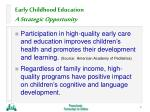 early childhood education a strategic opportunity6