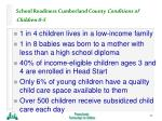 school readiness cumberland county conditions of children 0 5